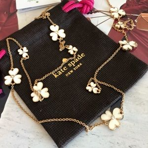 Kate Spade Pansy Blossom Long Station Necklace